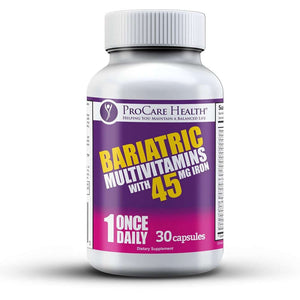 ProCare Health - Bariatric Multivitamin Capsule - 45mg Iron - 1 Once Daily - 30ct Bottle-Nashua Nutrition