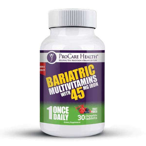 ProCare Health - Bariatric Multivitamin Chewable - 45mg Iron - Fruit Punch - 1 Once Daily - 30ct Bottle-Nashua Nutrition