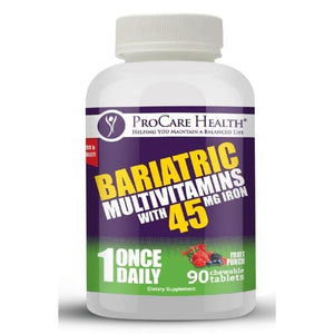 ProCare Health - Bariatric Multivitamin Chewable - 45mg Iron - Fruit Punch - 1 Once Daily - 90ct Bottle-Nashua Nutrition