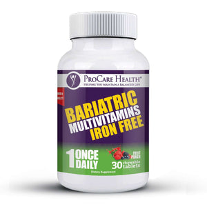 ProCare Health - Bariatric Multivitamin Chewable - Iron Free - Fruit Punch - 1 Once Daily - 30ct Bottle-Nashua Nutrition