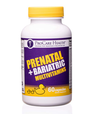 ProCare Health - Prenatal + Bariatric Multivitamin Capsule - 60ct Bottle-Nashua Nutrition