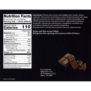 Proti-Thin Anytime Ready To Drink Protein Drink - Chocolate (6/Box)-Nashua Nutrition