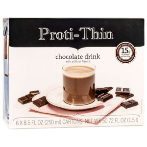 Proti-Thin Anytime Ready To Drink Protein Drink - Chocolate (6/Box) - Nashua Nutrition