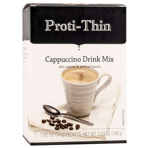 Proti-Thin Hot Drink - Cappuccino Decaffeinated - 7/Box-Nashua Nutrition