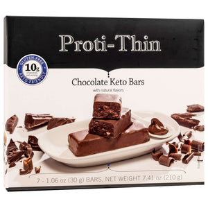 Proti-Thin Keto Bars - Chocolate, 7 Bars/Box - Nashua Nutrition
