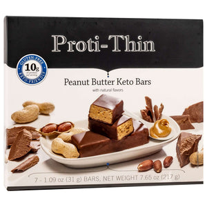 Proti-Thin Keto Bars- Peanut Butter, 7 Bars/Box - Nashua Nutrition