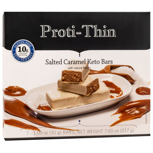 Proti-Thin Keto Bars - Salted Caramel, 7 Bars/Box - Nashua Nutrition