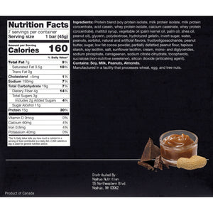 Proti-Thin Protein Bars- Nutty Caramel Crunch, 7 Bars/Box - Nashua Nutrition