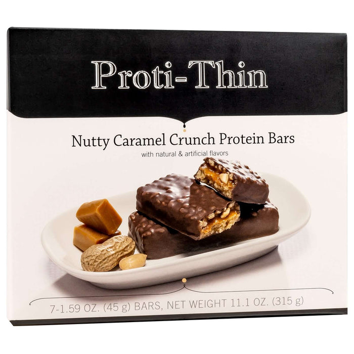 Proti-Thin Protein Bars- Nutty Caramel Crunch, 7 Bars/Box