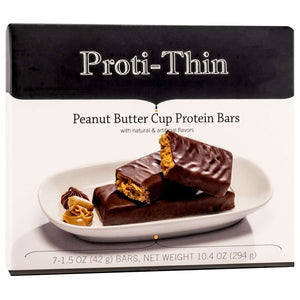 Proti-Thin Protein Bars - Peanut Butter Cup, 7 Bars/Box - Nashua Nutrition