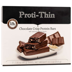 Proti-Thin Protein Bars VLC - Chocolate Crisp, 7 Bars/Box - Nashua Nutrition