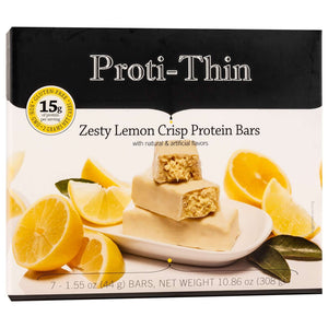 Proti-Thin Protein Bar VLC - Zesty Lemon Crisp (7/Box)-Nashua Nutrition