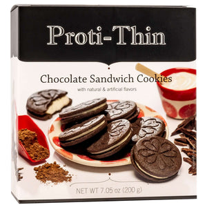 Proti-Thin Protein Cookies - Chocolate Sandwich Cookies - 14/Box - Nashua Nutrition