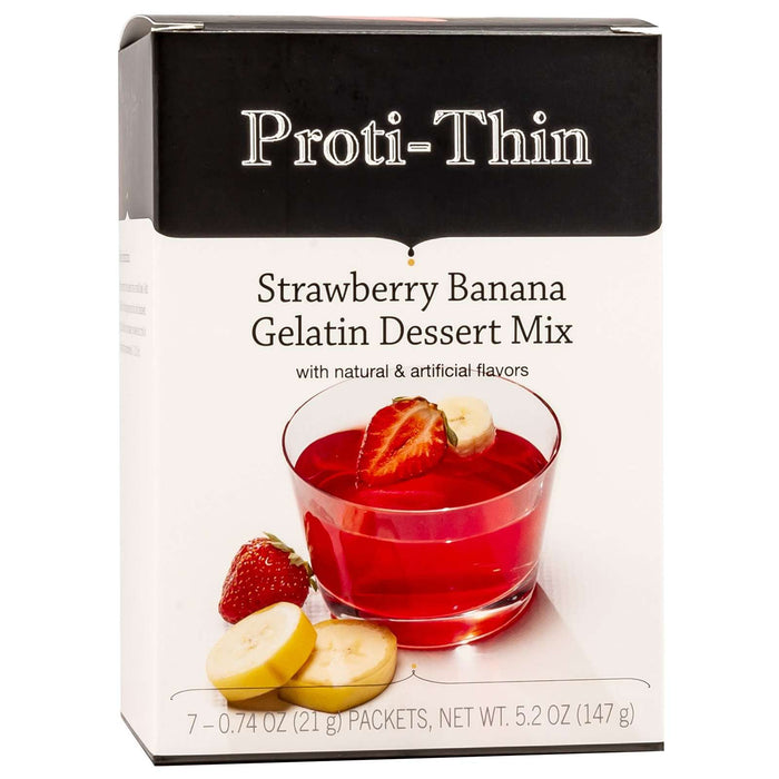 Proti-Thin Protein Gelatin - Strawberry Banana - 7/Box