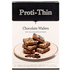 Proti-Thin Protein Wafer Squares - Chocolate, 5 Servings/Box - Nashua Nutrition