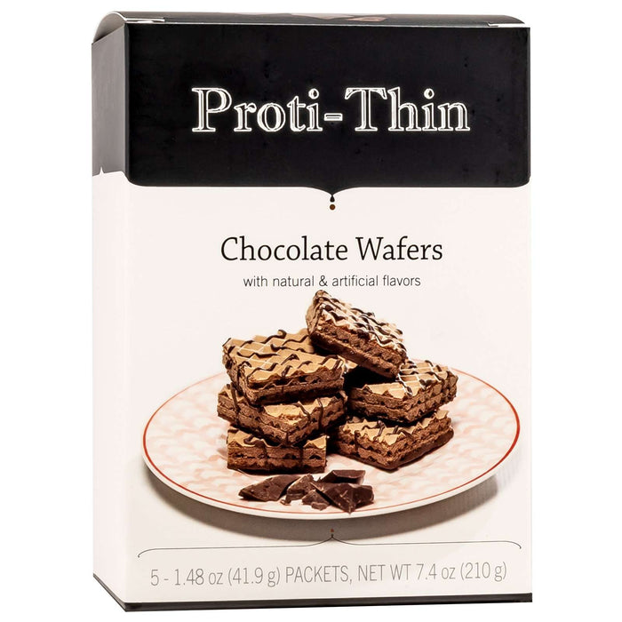 Proti-Thin Protein Wafer Squares - Chocolate, 5 Servings/Box