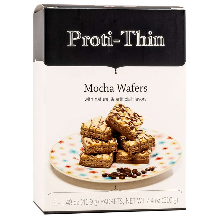 Proti-Thin Protein Wafer Squares - Mocha, 5 Servings/Box