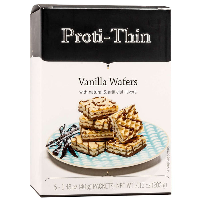 Proti-Thin Protein Wafer Squares - Vanilla, 5 Servings/Box