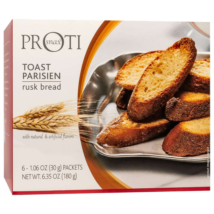 Proti-Thin - Rusk Bread - Parisien Toast - Plain - 6 Bags/Box