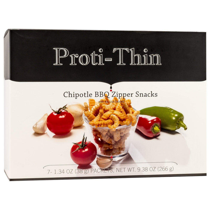 Proti-Thin Zipper Snacks - Chipotle BBQ - 7/Box