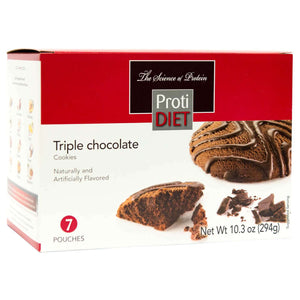 ProtiDiet Cookies - Triple Chocolate - 7/Box-Nashua Nutrition