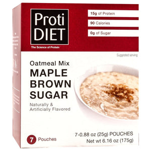 ProtiDiet Oatmeal - Maple Brown Sugar - 7/Box - Nashua Nutrition