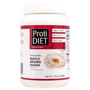 ProtiDiet Oatmeal - Maple Brown Sugar Jug - 20 Servings - Nashua Nutrition