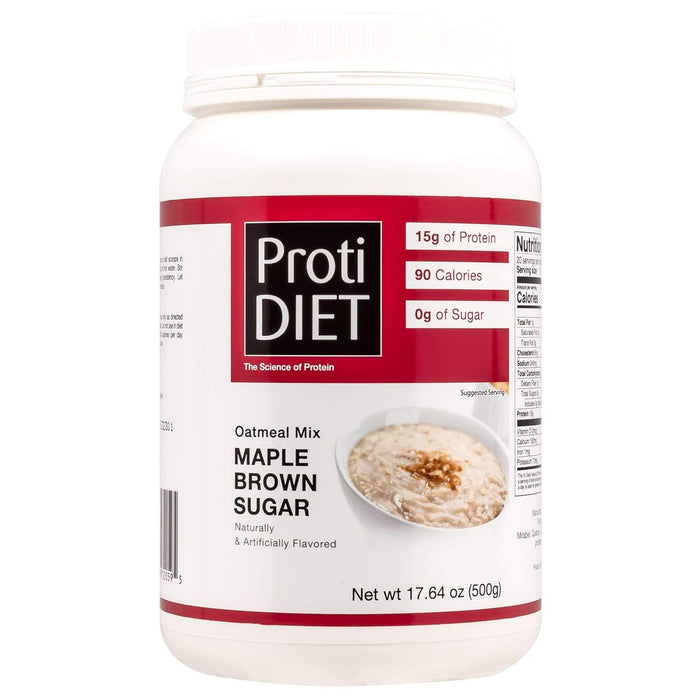 ProtiDiet Oatmeal - Maple Brown Sugar Jug - 20 Servings