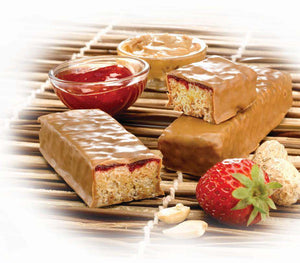 ProtiDiet Protein Bars - Old Fashioned Strawberry & Peanuts, 7 Bars/Box - Nashua Nutrition