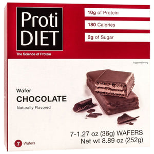 ProtiDiet Protein Wafer Bars - Chocolate, 7 Bars/Box - Nashua Nutrition