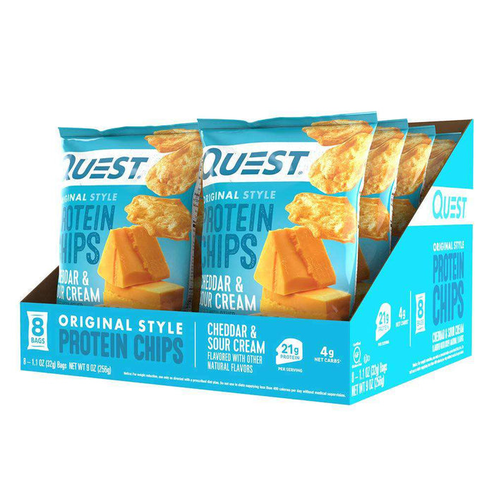 Quest Nutrition Protein Chips - Cheddar & Sour Cream - 8/Box