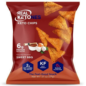 Real Ketones - Keto Chips - Sweet BBQ - 1 Bag - Nashua Nutrition