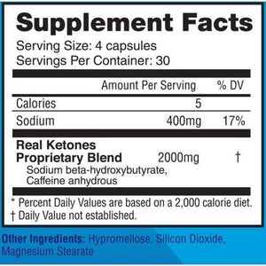 Real Ketones - Keto D-BHB Boost Ketone 60 Powder Capsules – 15 Servings - Nashua Nutrition