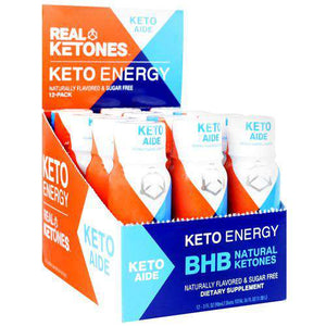 Real Ketones - Keto Energy Shots - Keto Aide - Strawberry Lemonade - 12 Pack - Nashua Nutrition