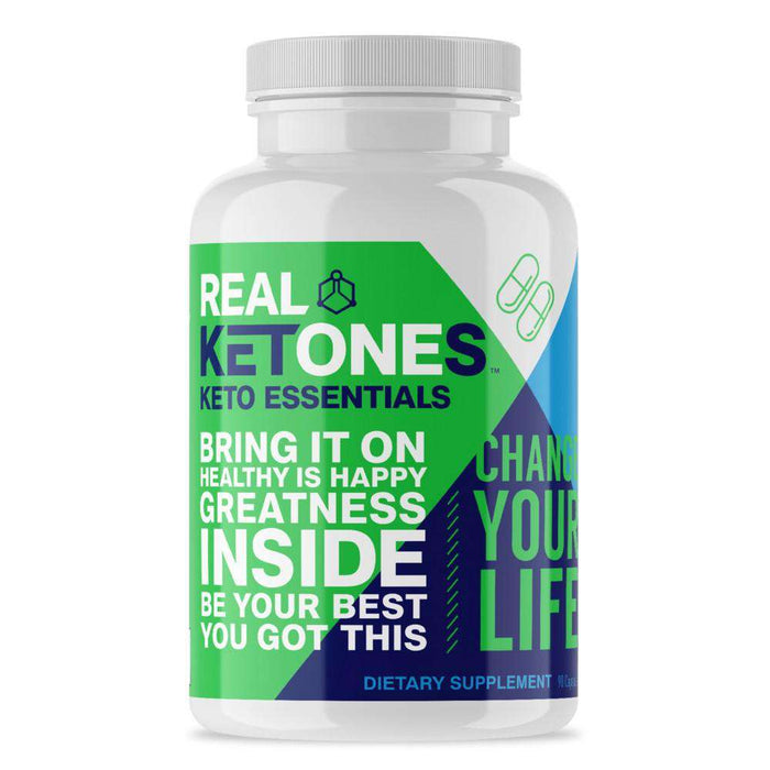 Real Ketones - KETO ESSENTIALS - 30 Servings - 90 Capsules