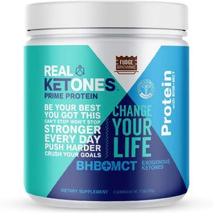 Real Ketones Prime Protein Meal Replacement - Fudge Brownie - 15 Servings - Nashua Nutrition