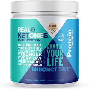 Real Ketones Prime Protein Meal Replacement - Vanilla Cream - 15 Servings - Nashua Nutrition