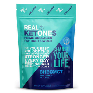 Real Ketones - Unflavored Prime BHB + MCT Collagen Peptide Powder - 20 Servings - Nashua Nutrition