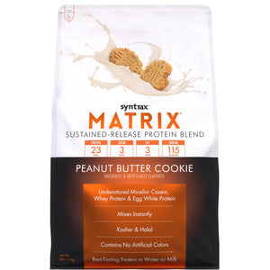 Syntrax - Matrix® Protein Powder - Peanut Butter Cookie - 5lb Bag-Nashua Nutrition