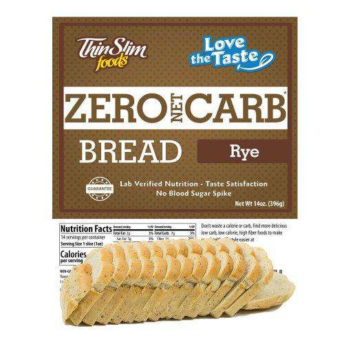 ThinSlim Foods - Love-The-Taste Bread - Rye - 14 Servings