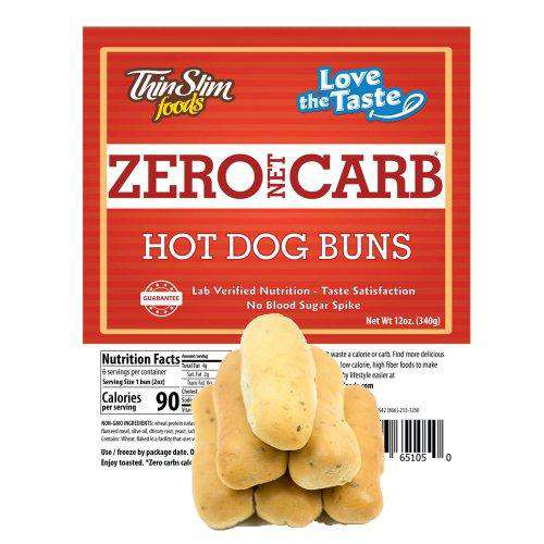 ThinSlim Foods - Love-The-Taste Hot Dog Buns - 6 Servings