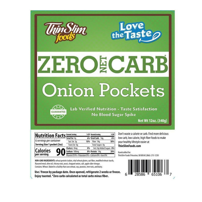 ThinSlim Foods - Love-The-Taste Pockets - Onion - 6 Servings