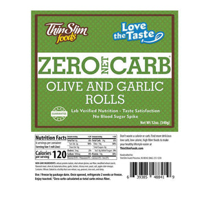 ThinSlim Foods - Love-The-Taste Rustic Tuscan Olive and Garlic Rolls - 6 Servings-Nashua Nutrition