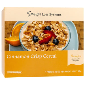 Weight Loss Systems Cereal - Cinnamon Crunch - 7/Box