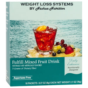 Weight Loss Systems Fiber Drink - Mixed Fruit - 10/Box