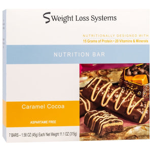 Weight Loss Systems Protein Bars - Caramel Cocoa, 7 Bars/Box