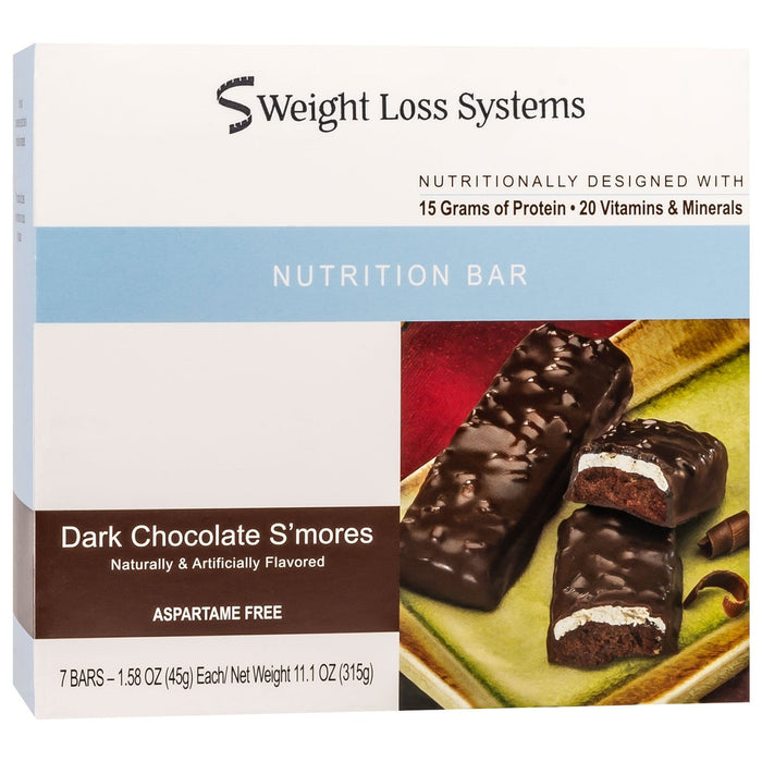Weight Loss Systems Protein Bars - Dark Chocolate S'Mores, 7 Bars/Box