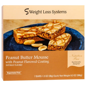 Weight Loss Systems Protein Bars - Peanut Butter Mousse, 7 Bars/Box