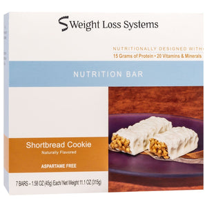 Weight Loss Systems Protein Bars - Shortbread Cookie, 7 Bars/Box