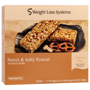 Weight Loss Systems Protein Bars - Sweet & Salty Peanut, 7 Bars/Box